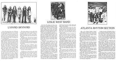 Lynyrd Skynyrd; Leslie West; Artful Dodger