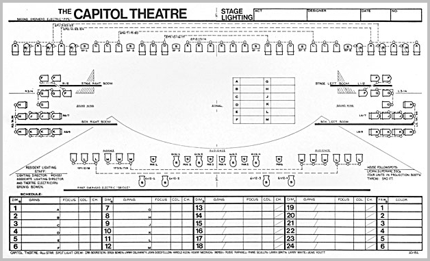 Awesome Capitol Theatre Stage Plan Lighting Plan And Floor Plan Wiring Cloud Peadfoxcilixyz