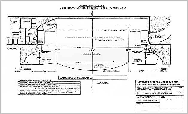 Capitol Theatre Stage Plan Lighting And Floor